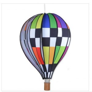 22 In. Hot Air Balloon – Checkered Rainbow