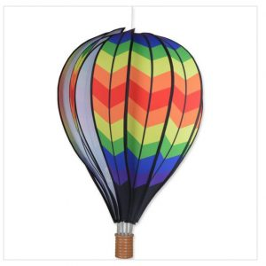 22 In. Hot Air Balloon – Double Chevron Rainbow