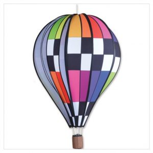 26 In. Hot Air Balloon – Checkered Rainbow