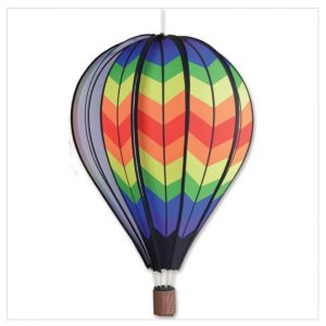 26 In. Hot Air Balloon – Double Rainbow Chevron